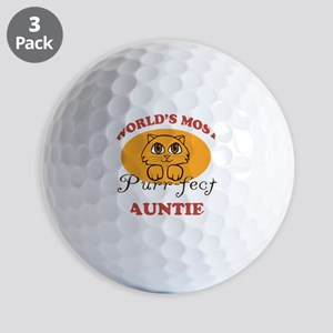 One Purrfect Auntie Golf Balls