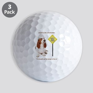 Basset Hound Construction Worker Golf Balls