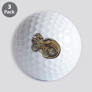 Gold Norse Dragon Golf Balls