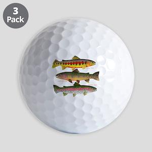 3 Western Trout Golf Ball