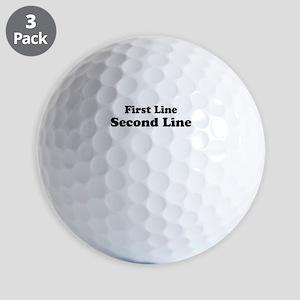 2lineTextPersonalization Golf Balls
