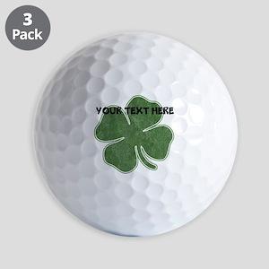 Personalizable Vintage Shamrock Golf Ball