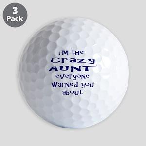 Crazy Aunt Golf Balls