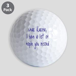 Karma List Golf Balls
