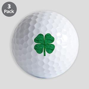 glitter shamrock Golf Balls