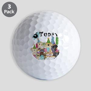 Dogs 5th Birthday Golf Balls