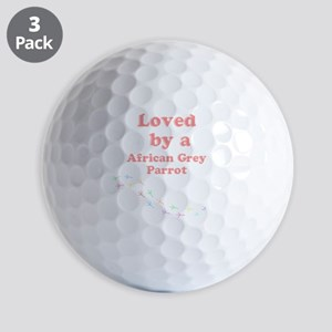 Loved by aAfrican Grey Parrot Golf Balls