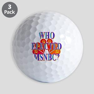 WHO ELECTED MSNBC(white) Golf Balls