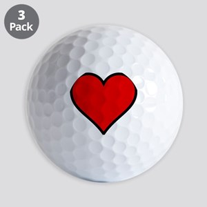 Love Heart Golf Balls