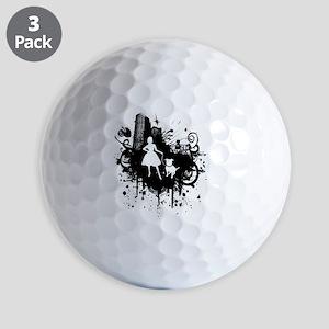 Urban Girl and Dog Final1 white Golf Balls