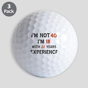 40 year old designs Golf Balls