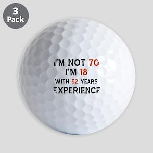 70 year old designs Golf Balls