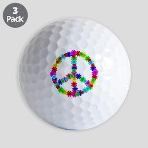 1960's Era Hippie Flower Peace Sign Golf Balls