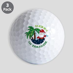 Merry In Paradise Golf Balls