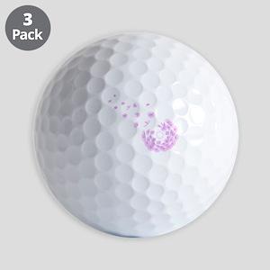Dandelion pink Golf Balls