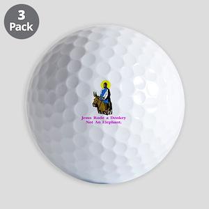 JesusRodeADonkeyXXX Golf Balls