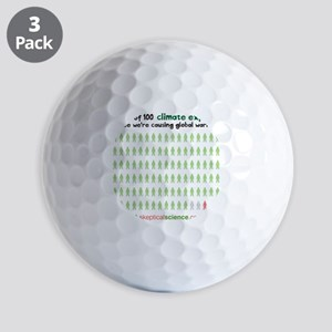 97 out of 100 climate experts Golf Balls