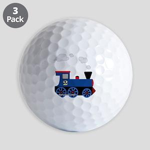 train age 2 blue black Golf Balls