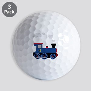train age 4 blue black Golf Balls