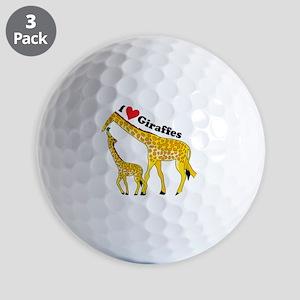 giraffe and baby cp Golf Balls