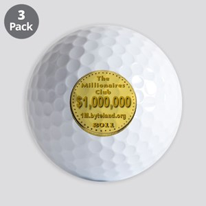 1M_Club_goldcoin_transparent Golf Balls