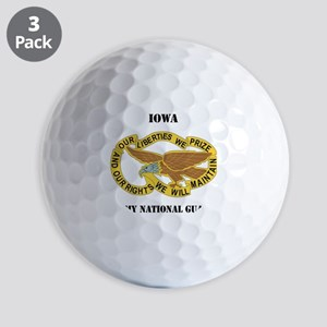 IOWA ANG with text Golf Balls