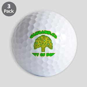 Oakland City Of Dope -- T-Shirt Golf Balls