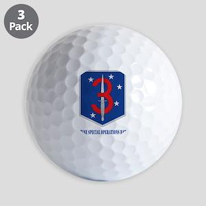 3MSOBwithT Golf Balls