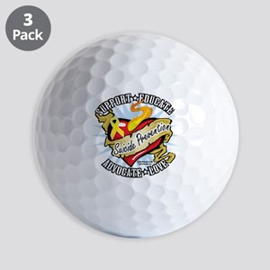 Suicide-Prevention-Classic-Heart Golf Balls