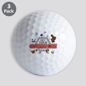 Get Your Game On - Black Golf Balls