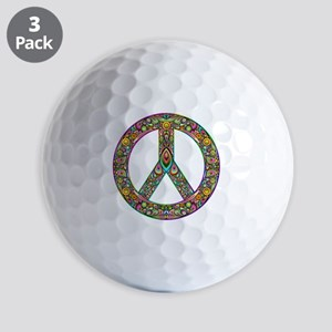 Peace Symbol Psychedelic Art Design Golf Balls