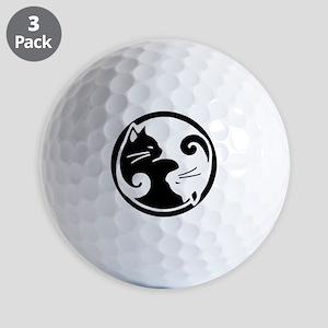 Yin Yang Cats Golf Balls