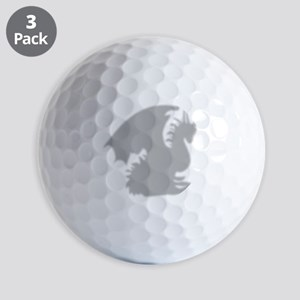 Dragon silhouette shower curtain Golf Balls
