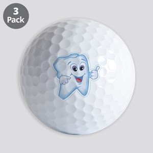 9987466thumbs up tooth Golf Balls