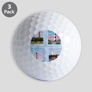 Lighthouses Outer Banks tall Golf Balls