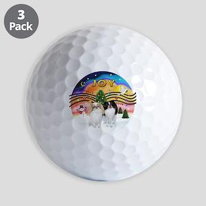 Music2-2Jap Chins (Lem+BW) Golf Balls
