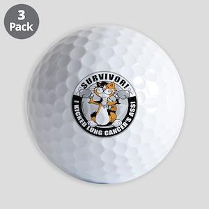 Lung-Cancer-Cat-Survivor Golf Balls
