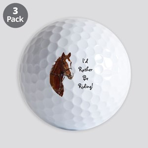 Id Rather Be Riding! Horse Golf Balls