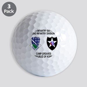 2-Army-506th-Infantry-Korea-Shirt Golf Balls