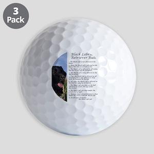 BlackLabRules Golf Balls