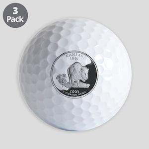 kansas-black Golf Balls