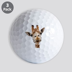 Funny Smiling Giraffe Golf Balls