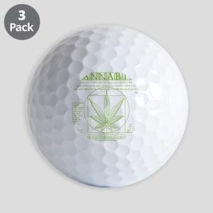 Vitruvian Grass Golf Balls
