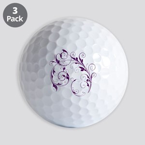 Purple Scroll - White Font Golf Balls