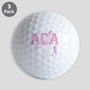 ACA initials, Pink Ribbon, Golf Balls