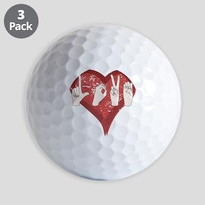 LoveASL Golf Balls