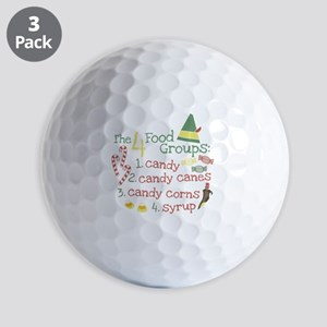 The 4 Food Groups Golf Balls