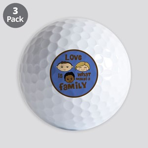 love is what makes a family blue boy co Golf Balls
