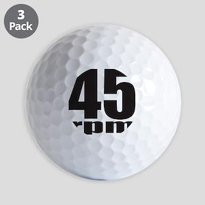 45rpmwht Golf Balls