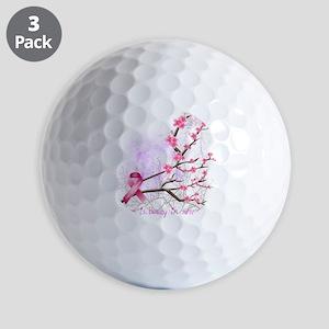 cherryblossom-dark Golf Balls